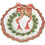 Fitz and Floyd Essentials Christmas Wreath Candy Bowl