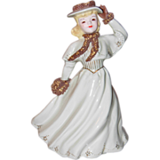 Florence Ceramics Woman w/Muff Figurine