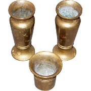 3 Brass Cigarette Snuffers