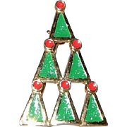 Geometrically Designed Christmas tree Brooch