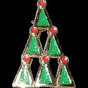 Geometrically Designed Christmas tree Brooch