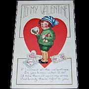 Circa 1920s Whitney Made Valentine's Day Postcard