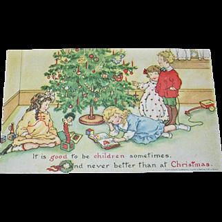 """Raphael Tuck's & Son """"Playtime"""" Christmas Postcard"""