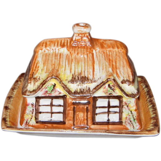 Cottage Ware Covered Butter or Cheese Dish by Price Kensington England