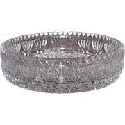 Princess House Fostoria Glass Candle Holder, Dish