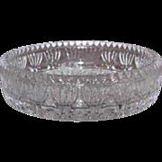 Princess House Fostoria Glass Candle Holder, Dish