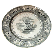 Staffordshire Transfer-ware Plate Canova pattern