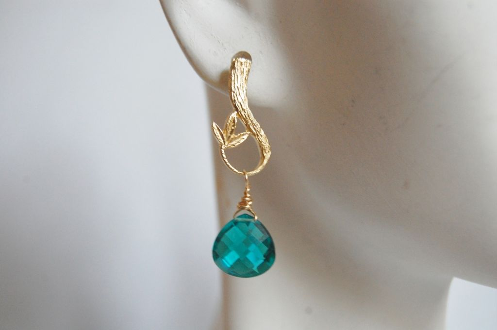 Paraiba Blue Quartz drop earrings