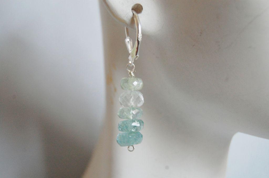 Ice Blue Aquamarine dangle earrings
