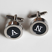 Men's personalized Cuff links - Men's jewelry- Men's Cuff links- Photo Cuff Links-Initial Cuff Links Cuff links - Men's accessories