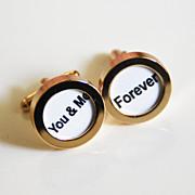 Men's Cuff links - Men's jewelry-- 'You & me ' Cufflinks-Photo Cuff Links- Cuff links - Men's accessories-Personalized Cuff link