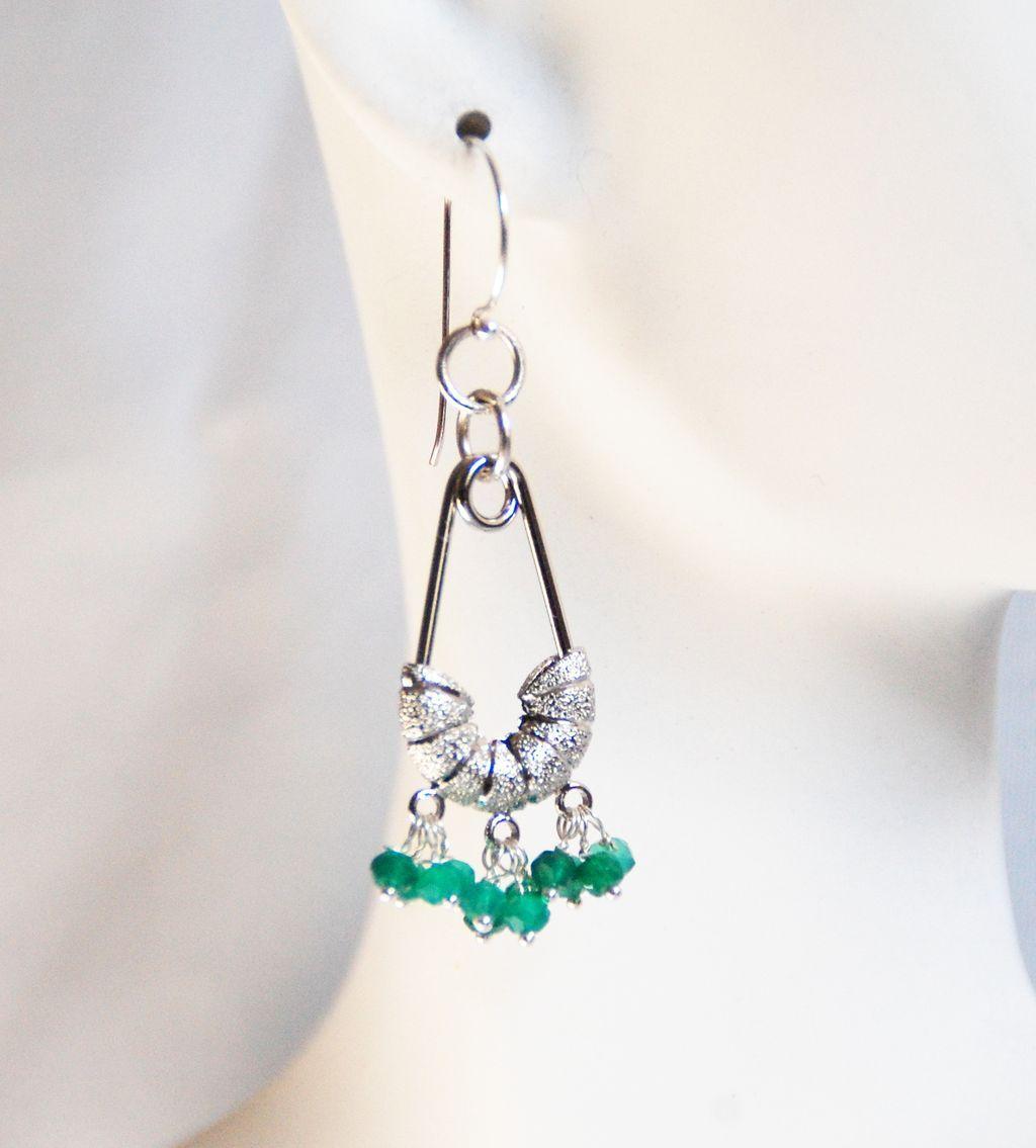 green quartz chandelier earrings dangle drop earrings