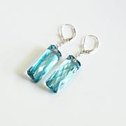 Gorgeous 31.20 ct. Green Amethyst Dangle Drop Earrings- Fine Jewelry-Wedding Jewelry- Bridal Jewelry -Bridal Accessories-