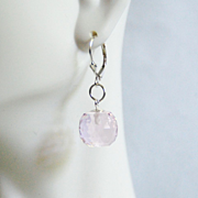 Gorgeous 31.80 ct Light Pink Topaz ball Briolette Dangle Drop Earrings- Fine Jewelry- Wedding Jewelry- Bridal Jewelry -Bridal Accessories-