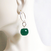 Gorgeous 28.90 ct Green Jade ball Briolette Dangle Drop Earrings- Fine Jewelry- Wedding Jewelry- Bridal Jewelry -Bridal Accessories-