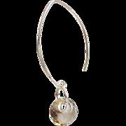 ON SALE Gorgeous Smoky Quartz Disc Briolette Dangle Drop Earrings -Smoky Quartz Earrings - Wedding jewelry- Bridal Jewelry-Bridal Accessorie