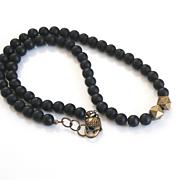 Men's Necklace-Men's Black Onyx Necklace-Beaded Necklace-Men's Jewelry- Unisex Jewelry- Unisex Necklace- Men's Accessories