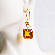 Top Grade 30.10 ct.Orange Citrine Dangle Drop Earrings- Fine Jewelry-Wedding Jewelry- Bridal Jewelry -Bridal Accessories- Citrine Earrings