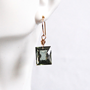Green Amethyst Dangle Drop Earrings- Fine Jewelry-Wedding Jewelry- Bridal Jewelry -Bridal Accessories- Mother's Day