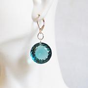 Huge 41.5 ct. London Blue Topaz Dangle Drop Earrings- Fine Jewelry-Wedding Jewelry- Bridal Jewelry -Bridal Accessories- Mother's Day