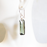 Huge 36.5 ct. Green Amethyst Dangle Drop Earrings- Fine Jewelry-Wedding Jewelry- Bridal Jewelry -Bridal Accessories- -Amethyst Earrings