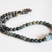 Men's Jesper And Agate Necklace- Men's Necklace -Men's -JewelryFather's Day Necklace- Beaded Necklace- Unisex necklace- Men's Accessories-