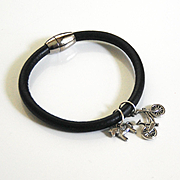Men's Leather Bracelets-Men's Bracelet - Men's Jewelry - Men's Leather charm Bracelet - Unisex Bracelet - Men's Accessories- Unisex Jewelry