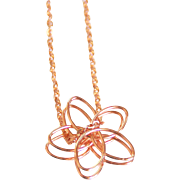 Rose gold plated Flower pendant necklace- rose gold necklace- Rose gold jewelry- Everyday wear Necklace