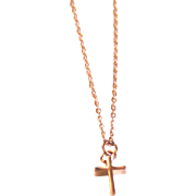Rose Gold Tiny Cross Necklace- Charm Necklace- Everyday Necklace -Rose Gold Cross Jewelry - Rose gold Jewelry -For her- gift ideas