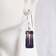 Bi-Color Ametrine Top Grade 22.47ct Dangle Drop Earrings- Fine Jewelry-Wedding Jewelry- Bridal Jewelry -Bridal Accessories- For Her- Gift