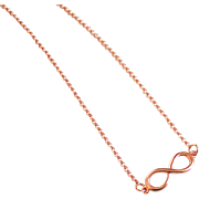 Rose Gold Filled Necklace With Infinity Charm- Everyday Necklace -Rose Gold Filled Infinity Jewelry -Rose gold Jewelry -For her- gift ideas