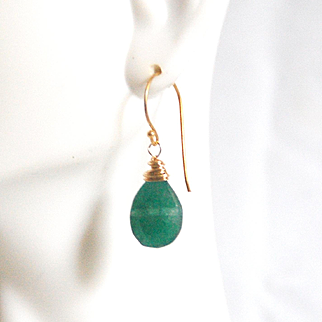 Green Onyx Dangle Drop Earrings-Green Earrings- Green Onyx Earrings-For Her-Wedding Jewelry- Bridesmaids Gift- Holiday Gift- Gift Ideas
