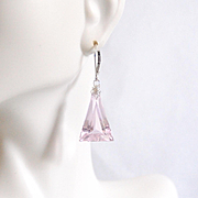 Baby Pink 24.49 ct. Kunzite Dangle Drop Earrings- Fine Jewelry-Wedding Jewelry- Bridal Jewelry -Bridal Accessories- Pink Earring- For her