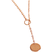 Lariat Necklace-Rose Gold Lariat Necklace - Wedding Necklace -Rose Gold plated Lariat Jewelry -Rose gold Jewelry -For her- gift ideas