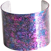 Alcohol Ink Cuff Bracelet- Cuff Bracelet-Statement Cuff Bracelet- Handmade Bracelet-Alcohol Ink Jewelry- Boho Jewelry-Christmas Gift-For her