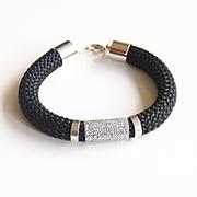 Black Rope Bracelet -Cord Bracelet -Black bracelet -Bangle bracelet -Statement Bracelet-Rope jewelry -Cord jewelry -Rope Bracelet-Gift Ideas