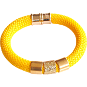 yellow Rope Bracelet -Cord Bracelet -yellow bracelet - Bangle bracelet - Statement Bracelet- Rope jewelry - Cord jewelry - Rope Bracelet -