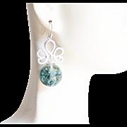 Dried Flower Resin Sphere Earrings- Resin Earrings- Resin jewelry- Resin Flower earrings-Blue Flower Sphere Earrings- Mother's Day Gift-Her     Dried Flower Resin Sphere Earrings- Resin Earrings- Resin jewelry- Resin Flower earrings-Blue F