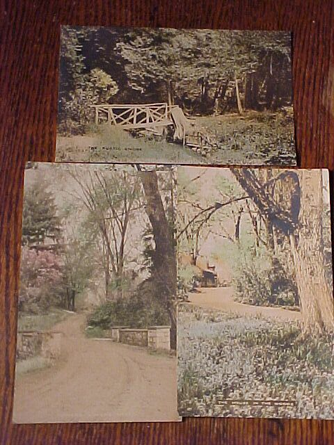 Three Hand Tinted Scenic Postcards