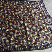 Bull and Bear Silk Hankie