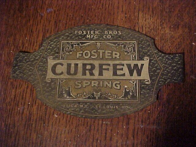 Victorian Tin Advertising Sign Utica New York