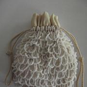 White Beaded Bag