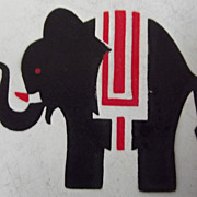 Child's Vintage Tin Plate With An Elephant