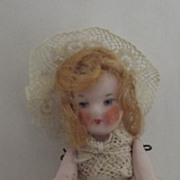 Tiny  All Bisque Flapper Doll