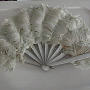 Pretty Pale Blue Feather Fan