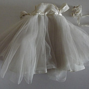 Madame Alexanderkins Bride Gown and Bouquet 1960's
