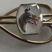 Tie clasp With German Shepard Probably 1950's