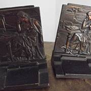 """Bronze Bookends """"Knowledge"""""""
