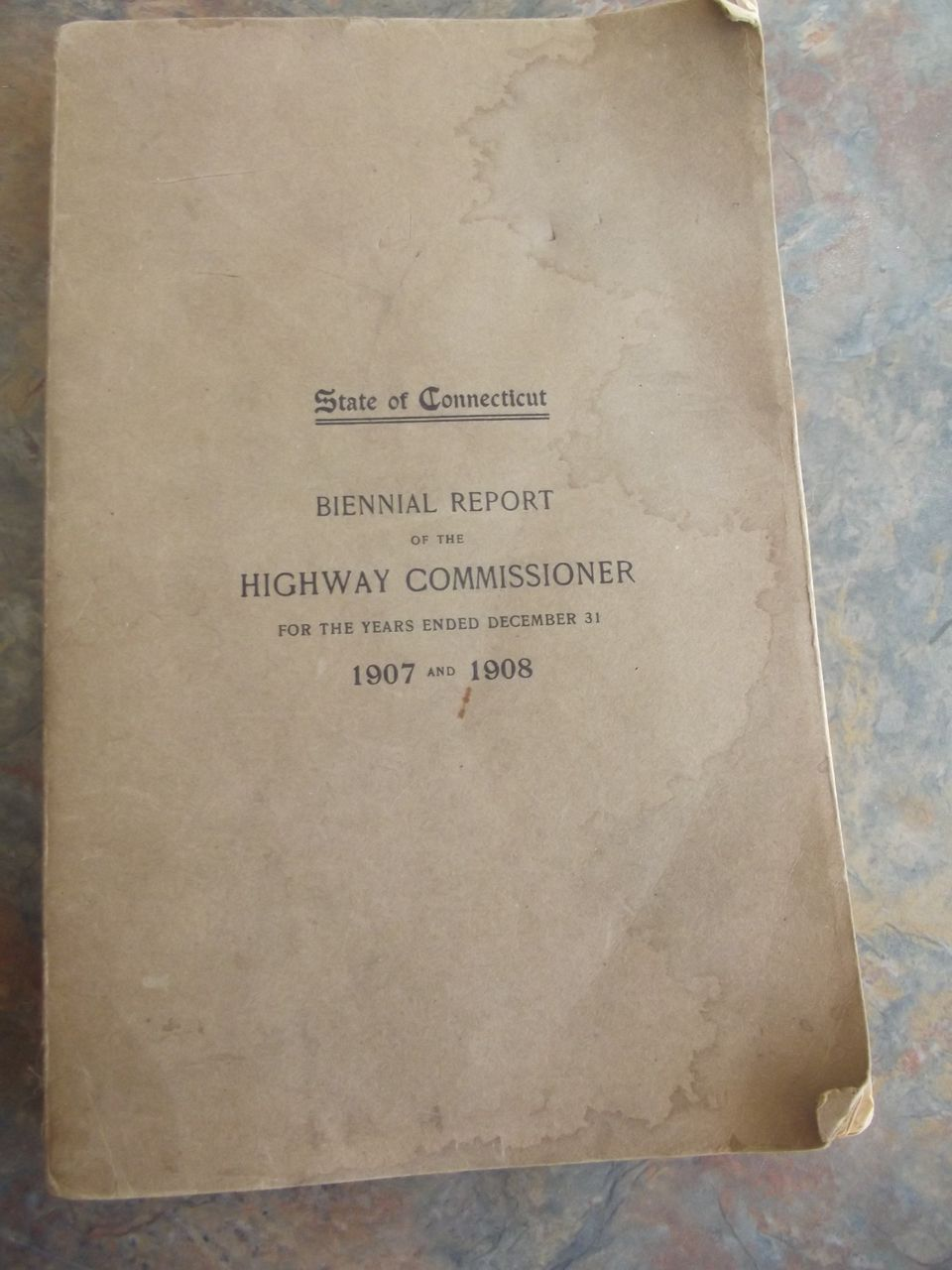 State of Connecticut Biennal Report 1907-1908