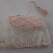 Early Silk and  Net Cap For Doll